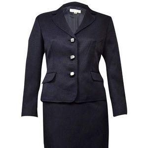 Evan Picone Work Smart Textured Skirt Suit Size 12